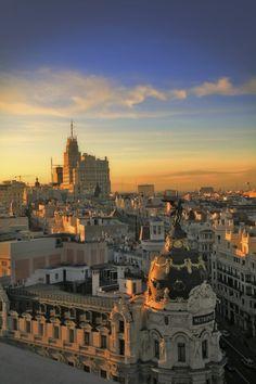 Madrid, Spain - Madrid Skyline by Medya Audiovisual on Fivehundredpx. Oh The Places You'll Go, Places To Travel, Places To Visit, Madrid Skyline, Wonderful Places, Beautiful Places, Foto Madrid, Valence, Spain Holidays