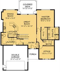 House Plan Information for E1019-10. 1600 Sq Ft.