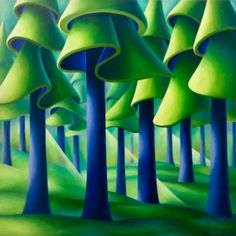 Cool Shade, by Dana Irving. 36 x Oil on Canvas Fantasy Drawings, Art Drawings, Landscape Art, Landscape Paintings, Canadian Art, Traditional Paintings, Naive Art, Simple Art, Pictures To Paint