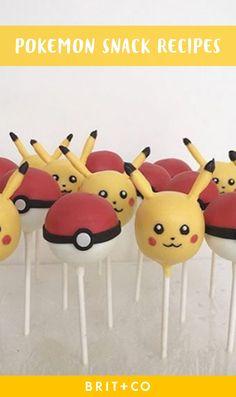 11 Pokémon Snacks That Will Help You Capture the Elusive Dragonite Cupcakes Pokemon, Pokemon Snacks, Pokemon Torte, Pokemon Birthday Cake, Pikachu Cake, 9th Birthday, Birthday Ideas, Birthday Parties, Raspberry Smoothie
