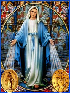 Virgin mary dressed in blue Religious Pictures, Jesus Pictures, Religious Icons, Religious Art, Blessed Mother Mary, Blessed Virgin Mary, Catholic Prayers, Catholic Art, Image Jesus