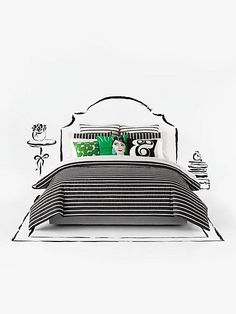 kate spade new york 'harbour stripe' comforter set available at Low Cost, Bedclothes, Twin Sheet Sets, Cotton Duvet, White Bedding, Bed Furniture, Bedding Collections, Comforter Sets, Decoration