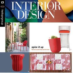 Feeling fab about our recent feature in @interiordesignmag's Spring Market Tabloid! Thanks so much for including our #modstripetablecloth!  #spiceitup #ecofriendly #sustainable #bottlecloth #repost @helloprgroup with @repost app