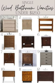 48 of the best readymade wood bathroom vanities ranging from $360 to $3700 for a classic bathroom renovation that lasts. Farmhouse Vanity, Modern Farmhouse Bathroom, Classic Bathroom, Wood Bathroom, Bathroom Vanities, Bathrooms, Faux Wood Paint, Modern Classic Interior, 1920s House