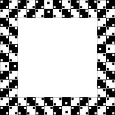 All the dice are perfect squares. Switching of black and white color is just tricking us into seeing bent lines although all the lines are straight.