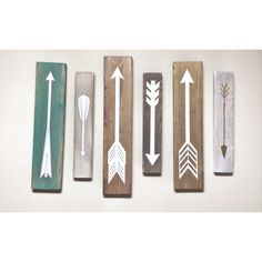 Rustic White Wooden Arrows - 6 Piece Set, Rustic Decor, Farmhouse Decor, Arrow Decor, Rustic Nursery Decor, Gallery Wall Decor, Wooden Arrow by cherrytreegallery on Etsy https://www.etsy.com/listing/254534820/rustic-white-wooden-arrows-6-piece-set