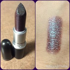 Back to MAC'd for this beauty! One of @maccosmetics latest frost lipsticks called On and On. Has an iridescent brown/blue pigment vibe going on. Looks gorgeous with @maccosmetics Currant lip liner .