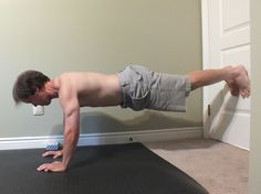 Up against a door or wall Exercises. Mix up your workout routine.