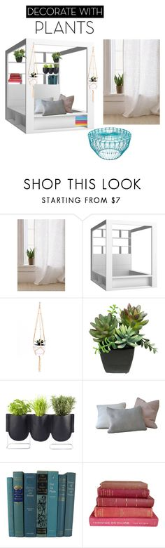 """""""Yes! Green green and more green!"""" by rubijoyrice ❤ liked on Polyvore featuring interior, interiors, interior design, home, home decor, interior decorating, Urban Outfitters, Authentics, Bend and plants"""