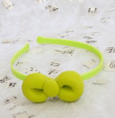 Puffy Lime Green Bow for a Headband