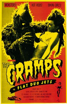 The Cramps ( Punk Poster / Flyer / Concert Poster / Classic Punk Rock / Vintage Poster / Monster )