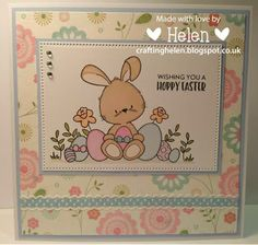 Using 'Happy Easter' from Clear Stamp Boutique