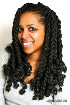 Style on large marley twists