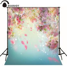 16.97$  Watch now - Allenjoy photography backdrops bokeh pink flowers blur photo background newborn baby photocall lovely photo studio  #aliexpress