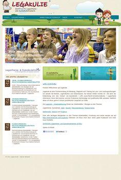 The website 'legakulie.de' courtesy of Pinstamatic (http://pinstamatic.com)