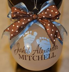 Cher's Signs by Design: Personalized Ornaments ... I want this for JD's 1st Christmas ;-)