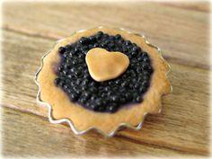 Homemade Blackberry Pie in rustic metal pie tin by LittleWooStudio