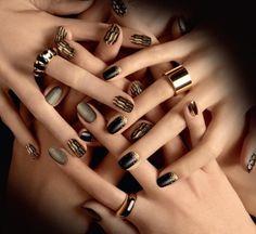 Nail art unghie primavera estate 2013 - Nail art dorata