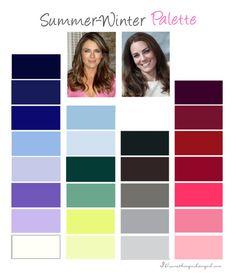 Summer-Winter, Cool Summer color palette