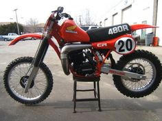 1982 Honda CR 480 End of the open class era. Scary fast!