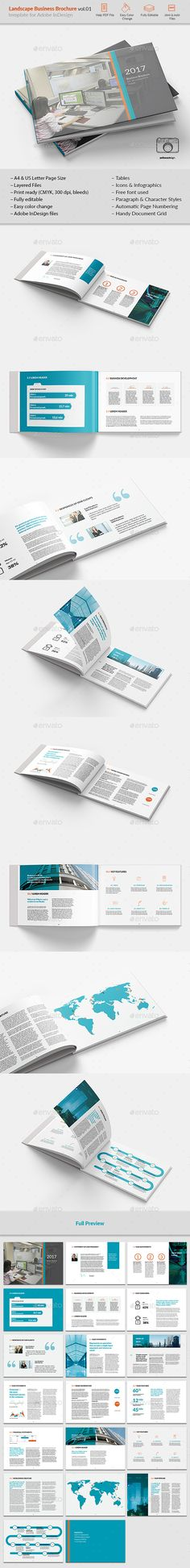 The Network Landscape Brochure Brochure template, Brochures and - company business profile template