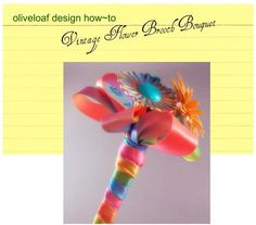 Vintage Flower Brooch Boquet Tutorial - DIY