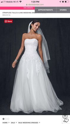 6657e54e2d1b Strapless Wedding Dress with Tulle (perfect condition) Corset back.   fashion  clothing. Size 12 ...