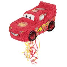 Cars piñata - pull strings to release treats rather than hitting with a stick