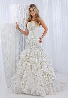 Charming Taffeta Mermaid Dropped Sweetheart Bridal Dress - 1300251031B - US$253.79 - BellasDress