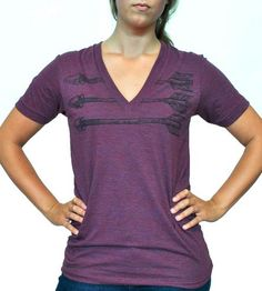 Unisex Purple Arrows V-Neck T-Shirt | Women's Clothing | The Local Branch | Scoutmob Shoppe | Product Detail