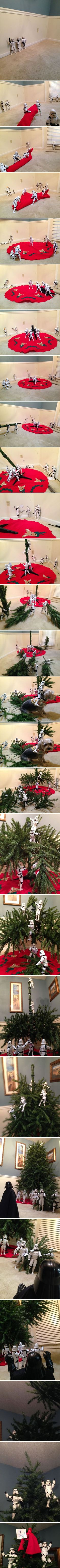 StormTroopers Assembling the Christmas Tree -