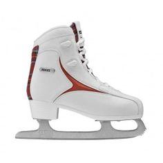 Pattino da ghiaccio-mod. COLLEGE Bianco-Rosso. Il connubio tra comfort e glamour!! #IceSkate #IceGlamour #Roces