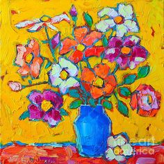 Wild Colorful Roses Print by Ana Maria Edulescu