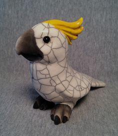 OOAK Raku CALEDONIA Ceramic Cockatoo by SmilesUnlimited on Etsy, $95.00