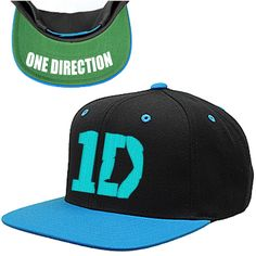 One Direction Hat Snapback One Size Fits All Harry Niall  Zayn Liam Louis 1D HAT. $29.92, via Etsy.