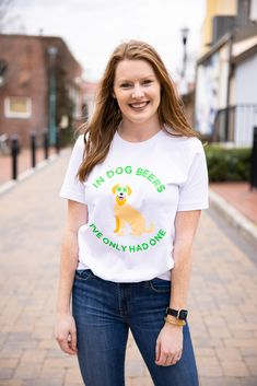 In Dog Beers Shirt, Lucky Dog Mom Shirt, St. Patrick's Day Shirt For Dog Mom, funny dog mom shirt, cute dog mom shirt, Cute Green T-Shirt, Dog Mom, Dog Mom Photo Ideas, Girl With Dog, dog mom tshirt, tails up pup, tailsuppup, Funny St. Patrick's Shirt, Dog Shirt
