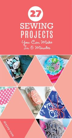 Creative DIY Sewing Projects - 27 DIY Projects You Can Make In Less Than 5 Minutes - Quick and Easy