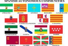 Flags of the 17 autonomous communities of Spain