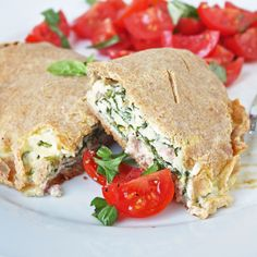 OMG  Cheesy Ham & Spinach Calzones - low carb and gluten free!