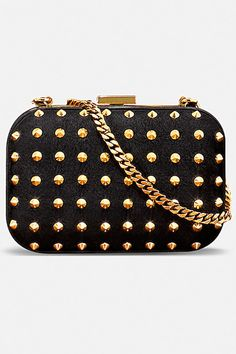 Black & Gold Studded Gucci Clutch