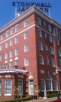 The majestic Stonewall Jackson Hotel on Market Street, Staunton, VA.