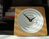 10in Kona Splat Modern Wall Clock by pilotdesign on Etsy