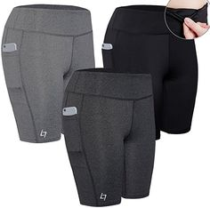 a83f37a5af4033 FITTIN Women's Sports Shorts Activewear for Active Fitness Pocket Yoga  Running Workout Gym Running Leggings XL: FITTIN Women's Active Fitness  Pocket Sports ...