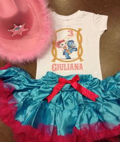 This is a great deal!  Sheriff Callie's Wild West birthday outfit sheriff by SaraSewtique, $34.99