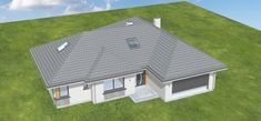 Projekt domu Willa Parterowa 2 135,75 m2 - koszt budowy 203 tys. zł - EXTRADOM Civil Construction, Architectural House Plans, Bungalow, Closet Designs, Shed, Outdoor Structures, How To Plan, Bedroom, Architecture