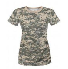 Rothco Womens Long Length Camo T-Shirt (5 Colors)