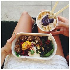 .@Karissa Sparke | And of course the only place to get the perfect birthday feast. @nakedtreatie... | Webstagram Raw Bars, Acai Bowl, Breakfast, Birthday, Food, Acai Berry Bowl, Morning Coffee, Birthdays, Eten