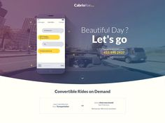 A simple landing page designed for great guys at CabrioRun. Make sure to check the attachment before you go for a ride :)  -- Facebook - Twitter - Google +