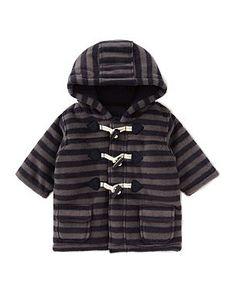 Striped Baby Duffle Coat - £10