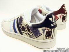 Adidas Superstar 2 'Royal Flush' Custom Sneakers